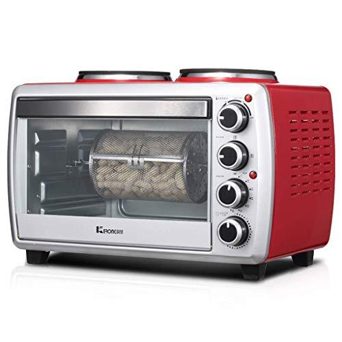 PLEASUR 25L Mini-Ofen mit Doppelbrenner 800W und 1000W Desktop-Induktionsherd 1800W Mehrere Koch- und Grillfunktionen Temperatureinstellung 0-250 ° C und 60-Minuten-Timer