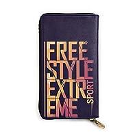フリースタイル 本革 財布 小銭入れ 長財布 小さい財布 大容量 多機能 ジッパー財布 贈り物 防水 耐久性 高級感