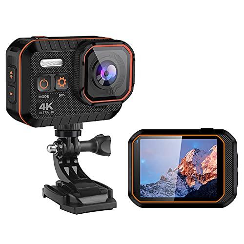Ultra Hd 4k Action Camera 10m Impermeabile 2.0' Schermo 1080p Sport Camera Go Extreme Pro Cam Drive Recorder,con Schermo di Controllo Remoto Outdoor Wifi Video Mini Macchina Fotografica