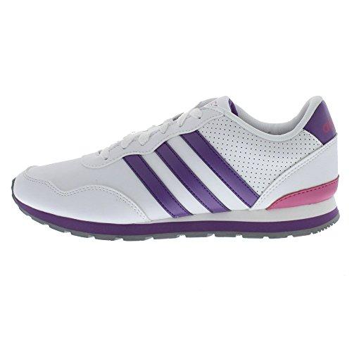 Adidas Unisex-Turnschuhe , Sneaker , runneo v Jogger K , weiß/Lila Q38883 (29)