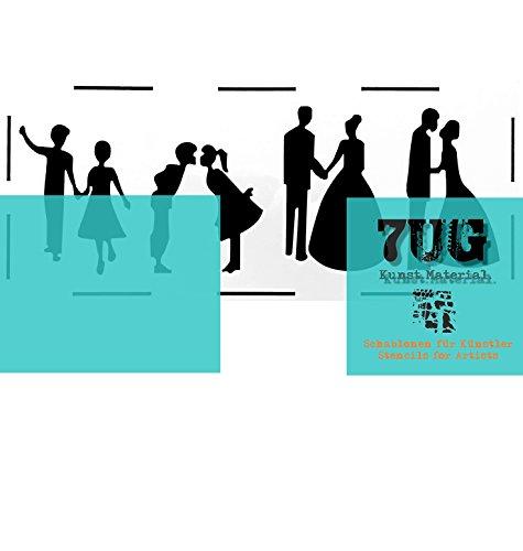 7UG Designer Schablone Scherenschnitt für Mixed Media Anwendungen