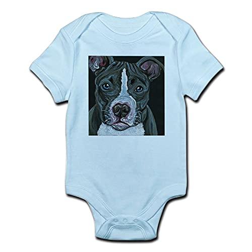 ABADI Body de bebé para perro Pitbull azul