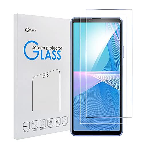 Qoosea[2 Piezas Protector Pantalla para Sony Xperia 10 III, Cristal Templado, Dureza 9H [Alta Definición] [Anti-Huella] Película de Vidrio Film