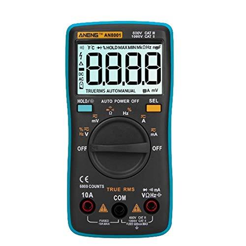 HYY-YY Reloj de bolsillo portátil de la caja de herramientas de mano con la Tabla de alcance automático multímetro digital