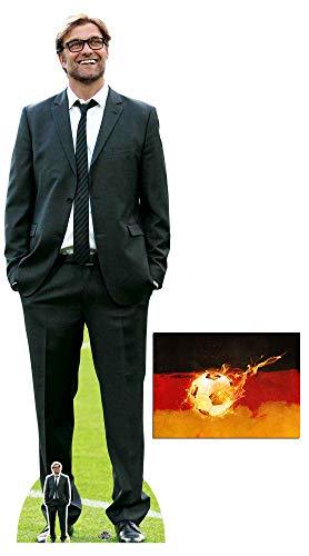 BundleZ-4-FanZ Jurgen Klopp Fußball-Manager Lebensgrosse und klein Pappfiguren/Stehplatzinhaber/Aufsteller/Standup Fan Pack, 189cm x 60cm Enthält 8X10 (25X20Cm) starfoto
