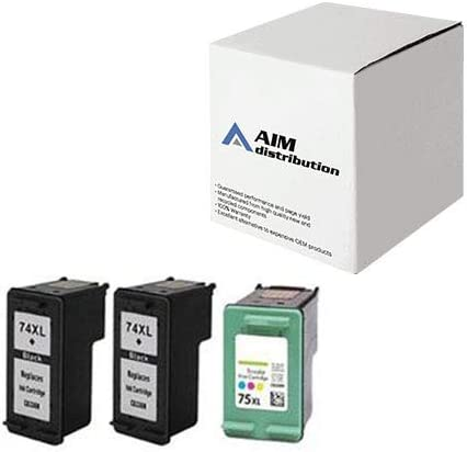 AIM Compatible Replacement for HP NO. 74/75 Inkjet Combo Pack (2-BLK/1-CLR) (SD422AN) - Generic
