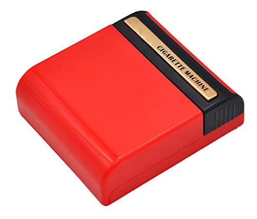 Bewegliche Automatische Zigarettenmaschine Kunststoff Zigarettenetui Manual Patch Zigarettenetui Hand Roll Automatische Patch-Zigarettenetui,Rot