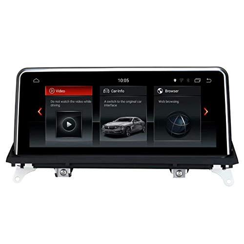 WRISCG Unidad Principal estéreo de Doble DIN para Coche Radio para BMW X5 E70 X6 E71 2014 2015 2016 2017 Navegación GPS Pantalla táctil de 10'Receptor de Reproductor Multimedia RDS DSP Audio Video