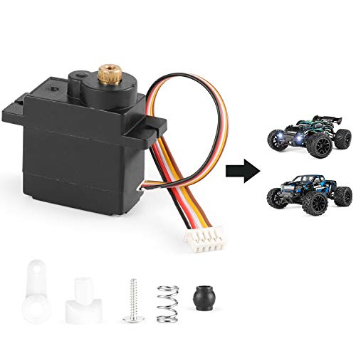 HAIBOXING RC Car Spare Parts M1830MT Metal Gear Servo and Servo Saver Assembly Apply for 2020 New Version 18858 & 18859 RC Cars