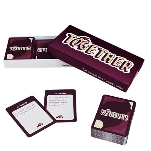 ZENAGAME Together - Juego de Mesa para Parejas - 150 Cartas para Mejorar la Comunicación - Juegos de Mesa Mayore, Juego de Cartas - Regalos para Parejas