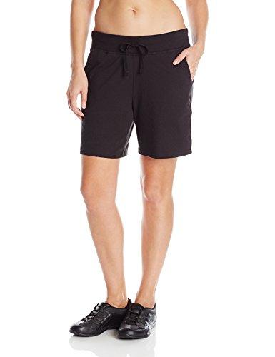 Hanes Women's Jersey Short, Black, Medium
