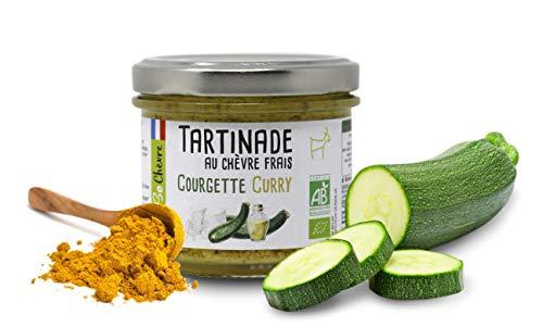 Carioni Food & Health Crema spalmabile al Formaggio di Capra Fresco, zucchine e Curry, 90g