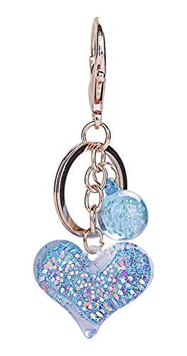 Porte-clés, Bijou de Sac Coeur et Perle avec Paillettes,...