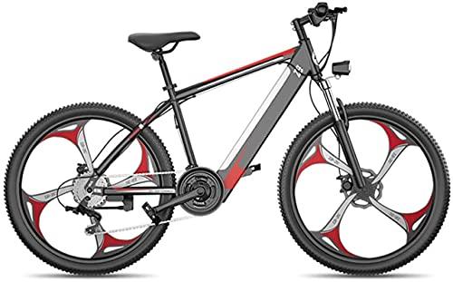 Bicicletas eléctricas para adultos, bicicletas de aleación de magnesio, bicicletas de montaña de 27 velocidades, todo terreno, ruedas de 26 pulgadas, bicicleta de doble suspensión MTB, para ci
