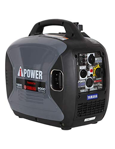 A-iPower SC2000iREC Inverter Generator Powered by Yamaha 2000-Watt, Grey (Renewed)