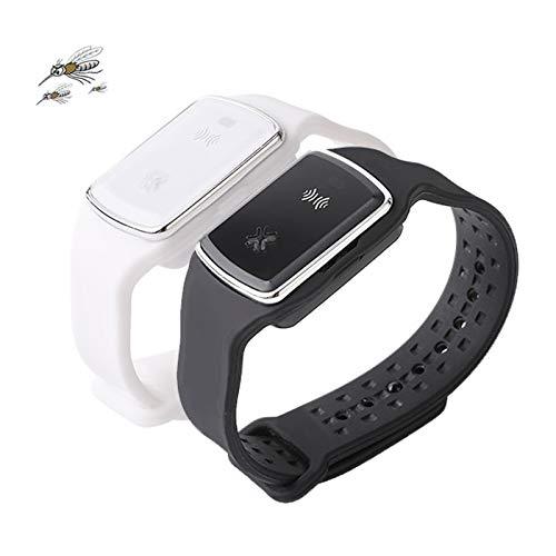 2 Stück Ultraschall Mückenschutz Armband, Elektronisches Anti-Mücken-Armband Mit USB-Aufladung/Wasserdicht/ Wiederverwendbar/Tragbar, Ungiftig Perfekt Für Den Schutz Im Innen- Und Außenbereich