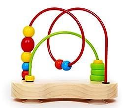 top 10 toy bead maze Award-winning Hape Double Bubble Wood Beads Maze