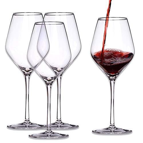 WYK - Set di calici da vino, in cristallo, senza piombo, per vino rosso, da dessert e bianco, collezione di calici da vino, grandi, 520 ml