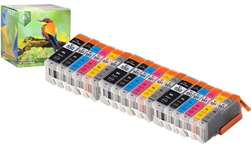 Ink Hero Compatible Ink Cartridge Replacement for Canon CLI-251, PGI-250, PGI-250XL, CLI-251XL (Pigment Black, Black, Cyan, Magenta, Yellow, Gray, 18-Pack)