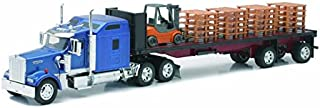 toy semi truck with flatbed trailer