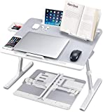 Lyrovo PVC Leather Foldable Adjustable Laptop Table Desk Stand with Storage Drawer and Bookstand for Eating Working Writing Gaming Drawing (6 Month Warranty) budget gaming mouses May, 2021