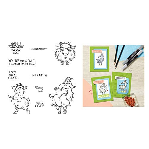 3DMetal Cutting Dies and Scrapbooking for Paper Making Goat Embossing Frame Card Craft with Stamps Stampin Up Set Die Cuts - Only Included Dies