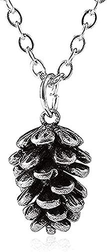 TTDAltd Collar Tiny Sweet Glass Glass Minimal Pine Apple Collar Pequeños Dibujos Animados de Ardilla Nut Collares Colgante para Mujeres