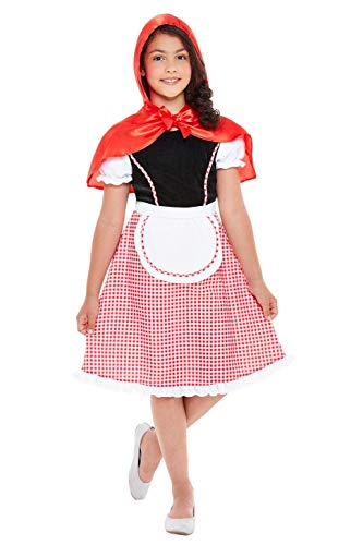 Smiffys 47755L - Disfraz de Caperucita Roja para Niñas