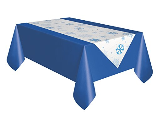 Unique Party 51002 - Nappe - En plastique - Transparente - Motif flocons de neige - 213 x 137 cm