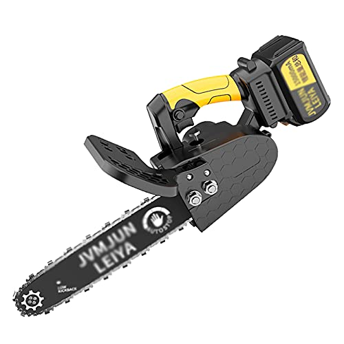 IRi 21 V Cordless Mini Chainsaw Lithium Battery Portable Electric Saw 10-inch Single Hand Chainsaw Equipped with one 15000mAh Batteries Suitable for Branch Wood Cutting