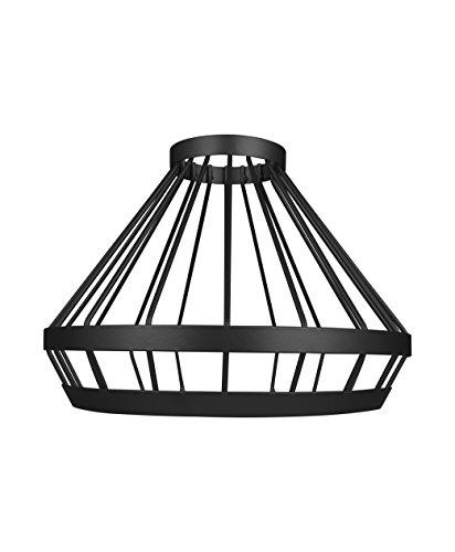 Osram Vintage Edition 1906 Lampenschirm Cage, schwarz, Zur Erweiterung Ihrer Osram Pendulum Leuchte, P20, Aluminiumgehäuse