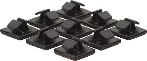 HR GRIP kabelhouderset bestaande uit 9 stuks [zelfklevend I Made in Germany I herbruikbaar] - zwart - 56910211