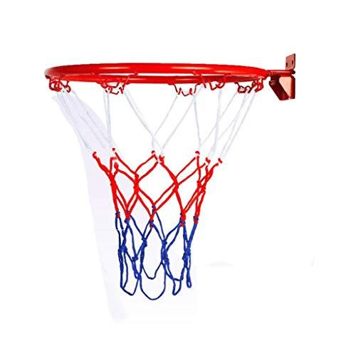 Nostalgie Basketballkorb Offizielle Größe Wandmontierter Eisen Basketball-Reifen Netto-Ring-Zubehör Inklusive Outdoor Hängender Korb (Color : 32cm)