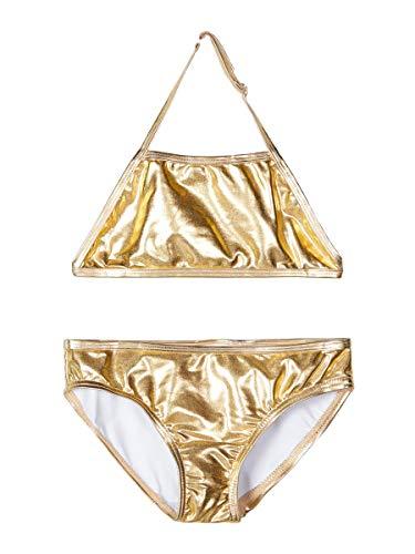 NAME IT Mädchen NKFZUALA Bikini-Set, Gold Colour, 110-116