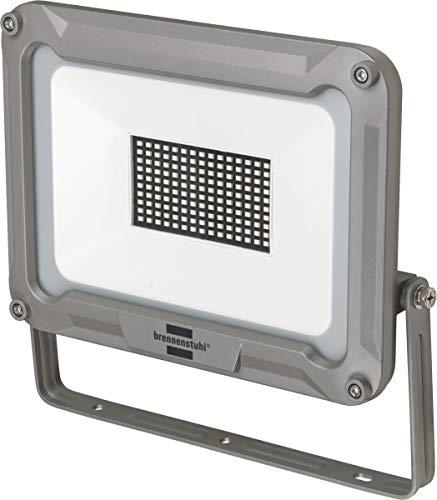 Brennenstuhl Projecteur LED JARO 100W (8850 Lumen, Utilisation en intérieur et en extérieur, étanche IP65, Support Orientable), Argent