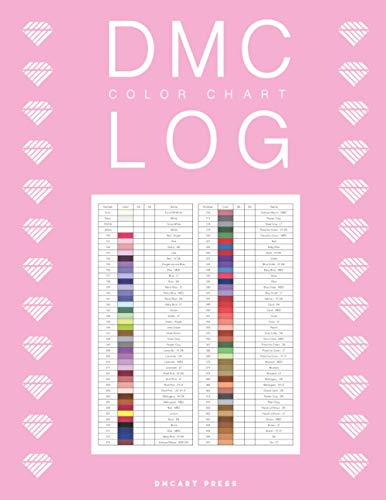 DMC Color Chart Log: Diamond Painting Log for 20 Projects and DMC Color Chart to Collect Drills for Women