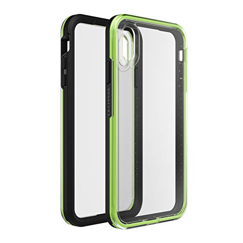 LifeProof 77-60542 Custodia Serie Slam per Apple iPhone Xs Max, Nero/Verde Fluo