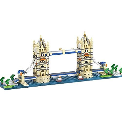 London Tower Bridge 1833pcs Edificio de la Ciudad Bloques de arquitectos de Referencia mundialmente Famosos Bloques Mini Nano Bloques de Juguete Regalos