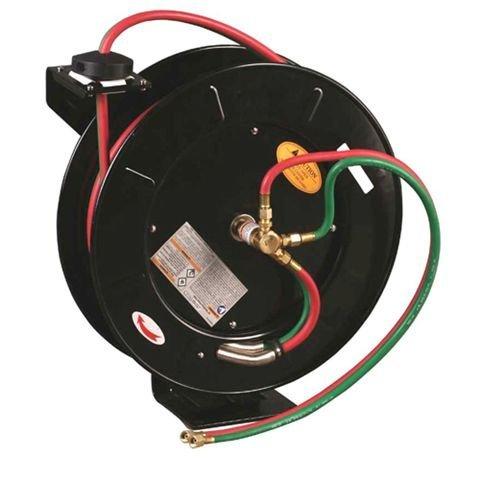 50 FT Oxygen Acetylene Dual Welding Retractable Reel w/Hose