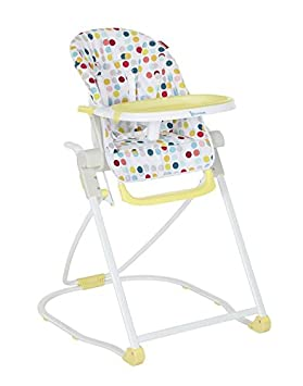 Badabulle Easy Grow Baby High Chair 5 Position Height Adjustable Fold Away Compact High Chair Children S Adjustable High Chair With Large Dining Table Yellow Amazon De Baby