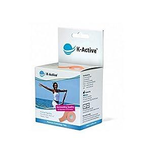 K-Active Kinesiologisches Tape Elite I Starkes und sanftes K-Active Tape für Schulter, Rücken, Nacken, Knie | Singlebox 5 cm x 5 m (beige)