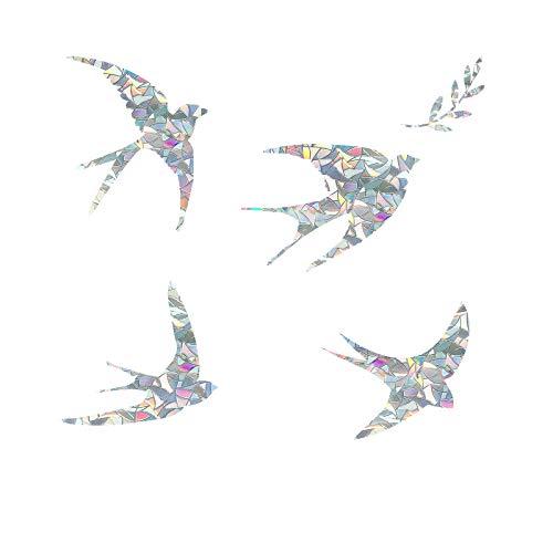 Statische Fensteraufkleber mit Schwalbenmotiv, Anti-Kollisions-Fensteraufkleber für Vogelschläge, Glasalarm, Vogelabschreckung, stoppen Vögel in Fenster, 20 Stück