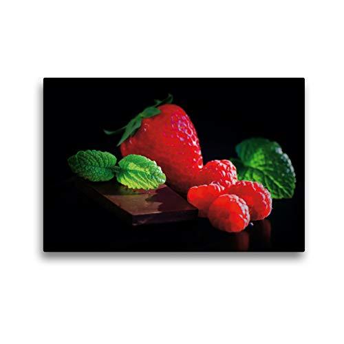 Premium - Lienzo de tela (45 x 30 cm, formato horizontal), diseño de bayas finas y dulces chocolate de Tanja Riedel (CALVENDO Salud);Calvendo Salud