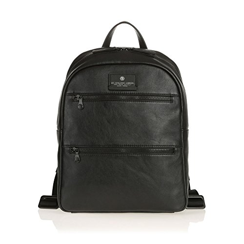 Zaino Porta Pc 14.0' 2 Tasche Zip Davanti | Spalding & Bros | 750310-Nero