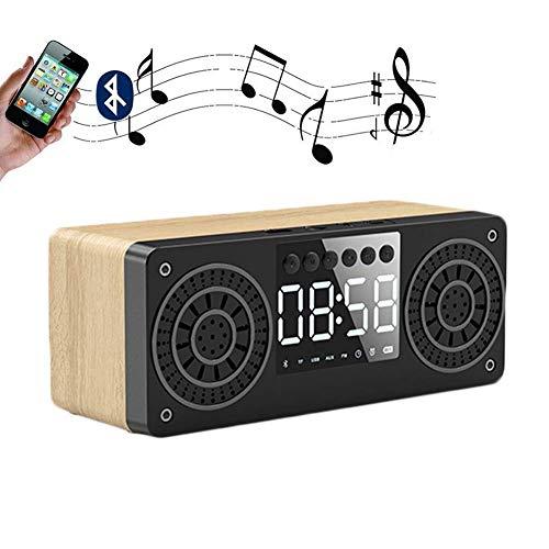 DGHJK Reloj Digital con Radio, Altavoz Bluetooth inalámbrico portátil con Sonido estéreo para Fiestas, Viajes, hogar y Aire Libre