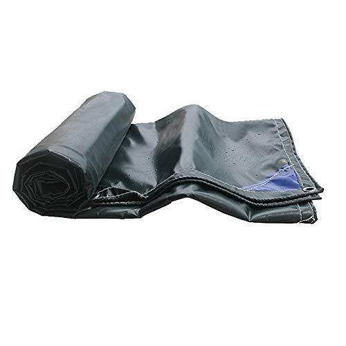 F2 FeuerfestTuch PVC doppelseitige wasserdichtes Gewebe Cargo Garage Cover Sonnenschutz einfach zu Falten grün (Größe: 5 * 57 m)