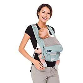 Cuby Ergonomic Baby Carrier,Classic Carrier, Soft & Breathable Baby Carriers Backpack Front and Back for Infants to Toddlers Up to 36 lbs