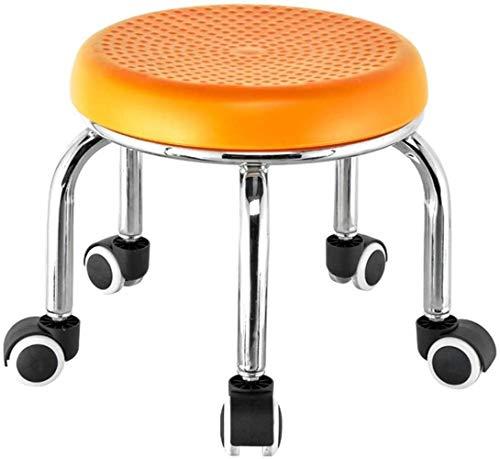 hsj Heces pequeñas LF- Taburete pequeño Lazy Round House Sofa Low Taburetes Zapatero cómodo (color naranja)
