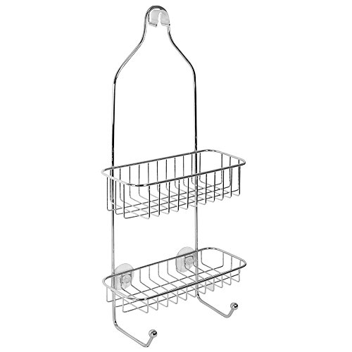 Buy Discount iDesign Reo Metal Power Lock Suction Rack for Bathroom, Kitchen Use, Shower Caddy