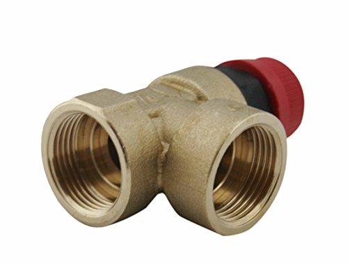 Caldaia valvola di pressione di sicurezza 1/2'' Fxf BSP vari pressione 3 bar